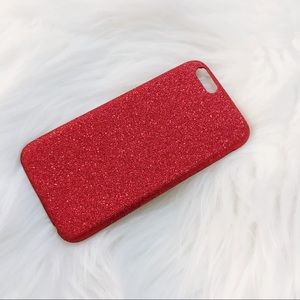 Accessories - IPhone 6/6S Red Glitter Sparkle Case. Brand New!
